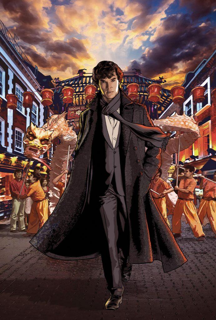 The Blind Banker. Sherlock #2 cover by Gary Spencer Millidge ©2017 Titan Comics/BBC Enterprises