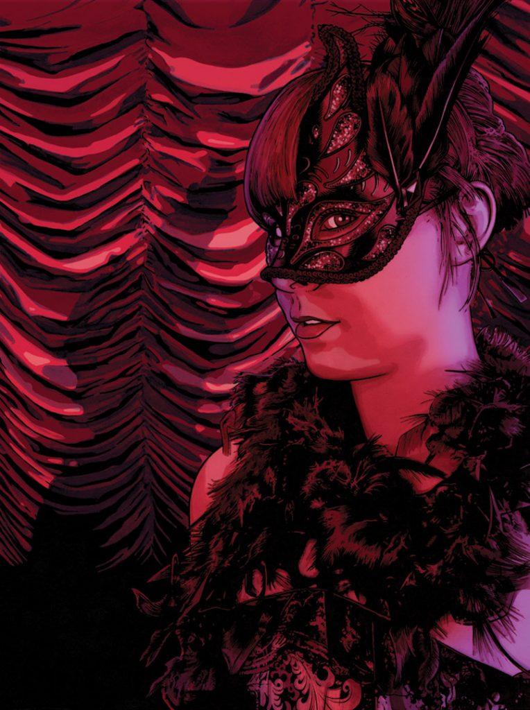 Burlesque Dancer – Meanwhile #1 cover ©2014 Gary Spencer Millidge