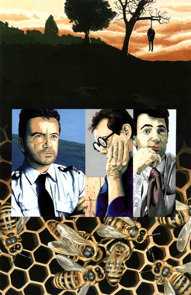 Busy bees – Strangehaven #13 cover ©2001 Gary Spencer Millidge