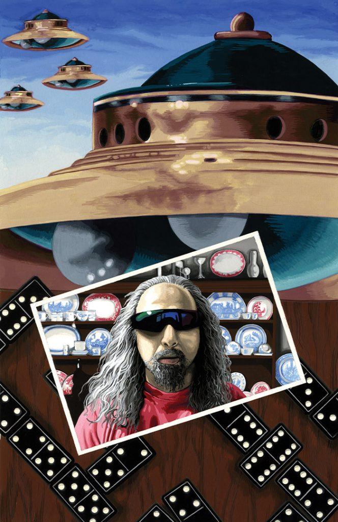 Flying Saucers – Strangehaven #10 cover ©1998 Gary Spencer Millidge