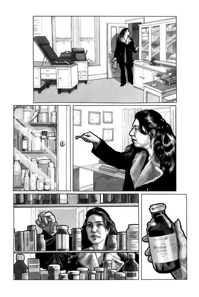 Strangehaven #15 page I Medicine Cabinet ©2003 Gary Spencer Millidge