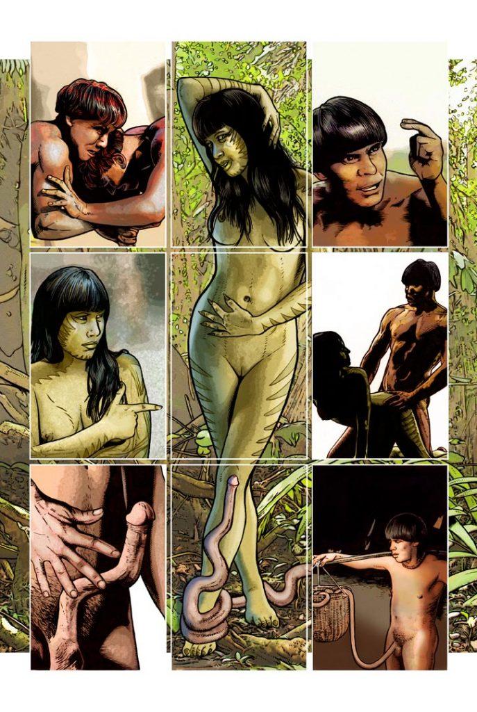 Strangehaven Destiny episode 04 page 01 Lizard Woman ©2015 Gary Spencer Millidge
