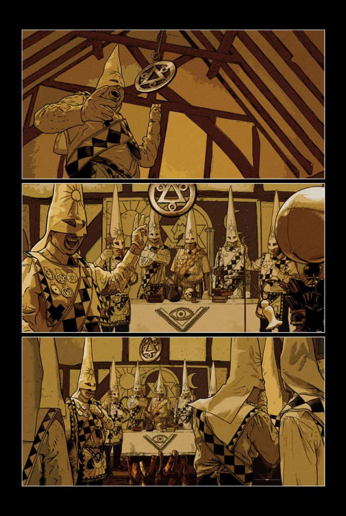 Strangehaven Destiny episode 08 page 01 Knight Vote ©2018 Gary Spencer Millidge
