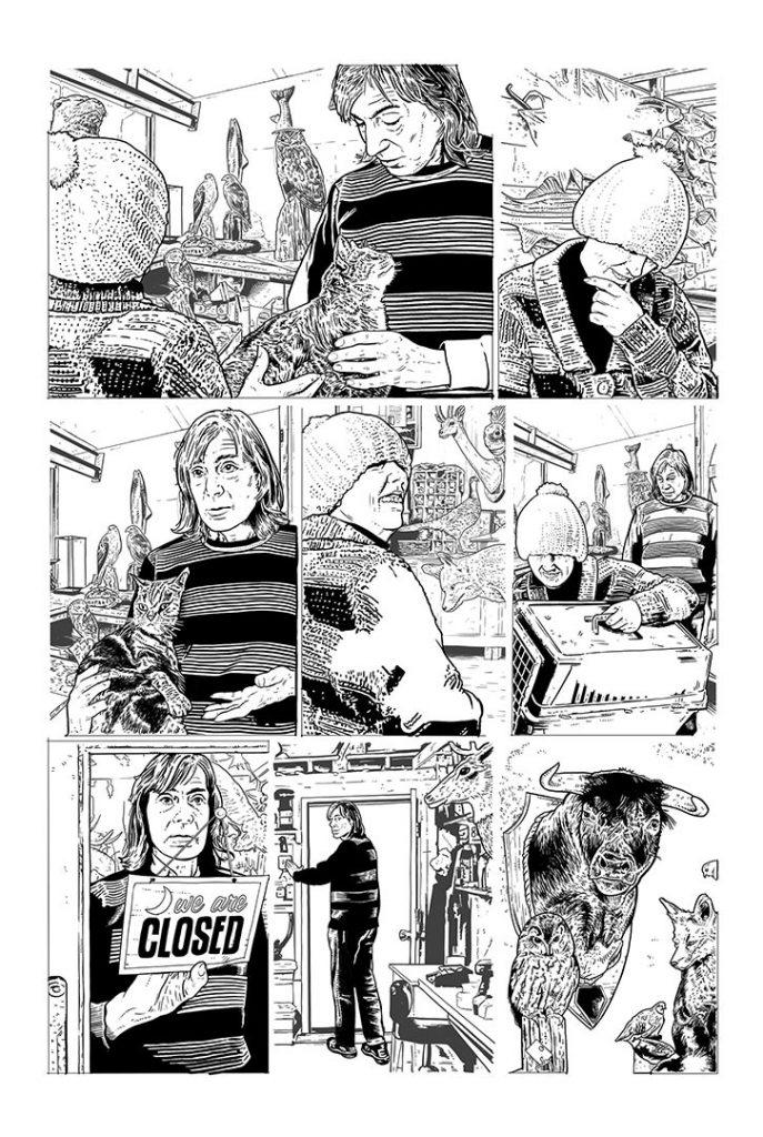 Strangehaven Destiny episode 08 page 14 B&W Visit from Elsie ©2021 Gary Spencer Millidge