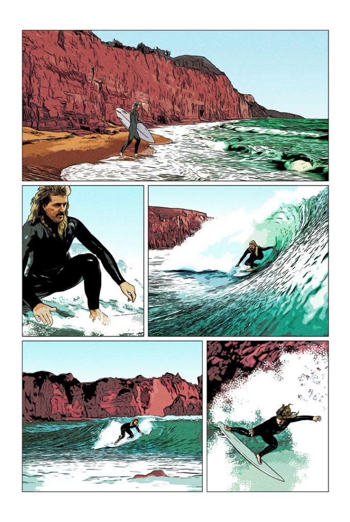 Strangehaven Destiny episode 10 page 01 Gone Surfing ©2021 Gary Spencer Millidge